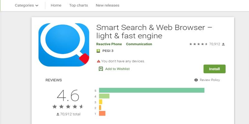 El éxito de Smart Search & Web Browser- light & fast engine