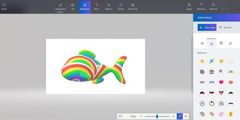 Paint 3D y una variedad de posibilidades para configurar