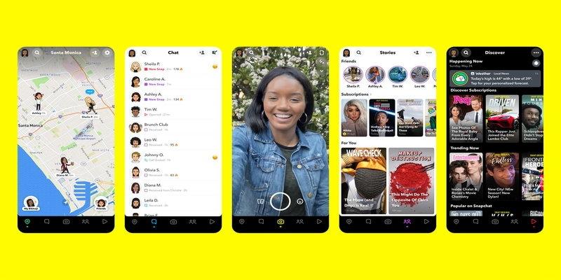 Las nuevas funciones en Snapchat