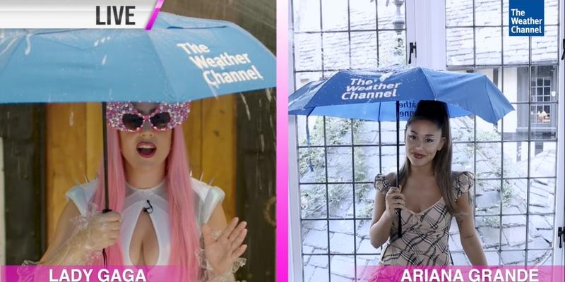 The Weather Channel promociona el nuevo sencillo de Lady Gaga ¨Rain On Me¨