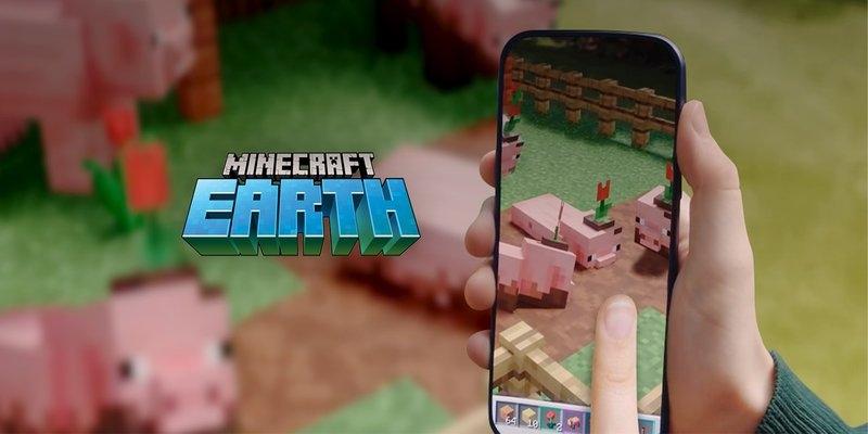 Minecraft Earth tirando de apoyo